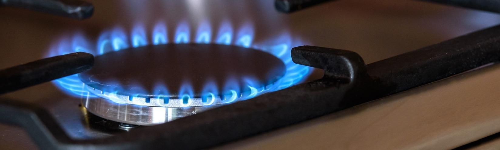 газ горит